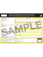 Landlord Gas Inspections - Gas Safety Certificate Sample